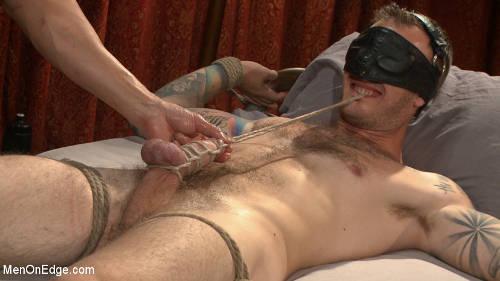 Gay male sub bondage