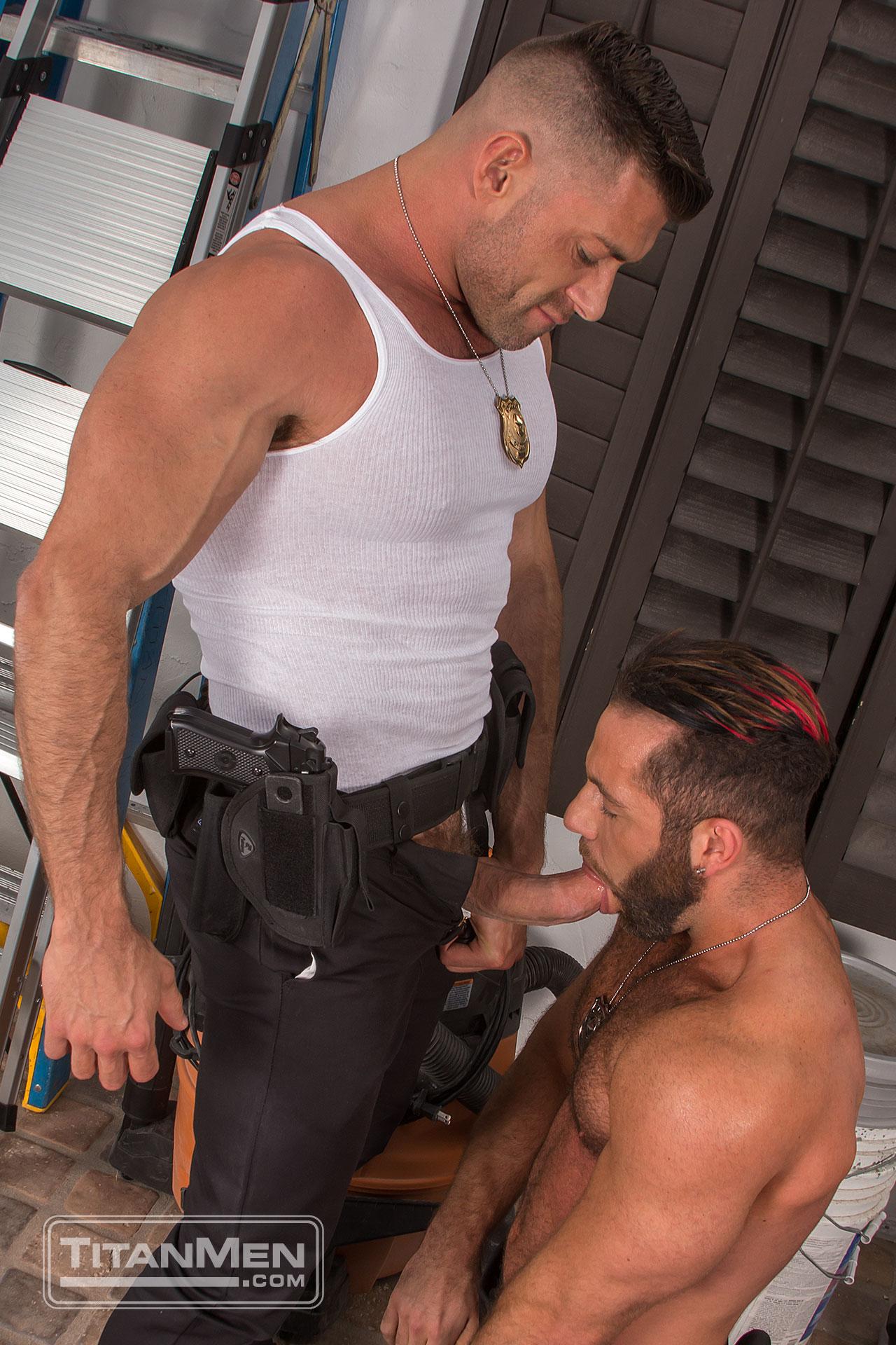 Gay police porn
