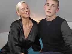 Boy fucks mature milf