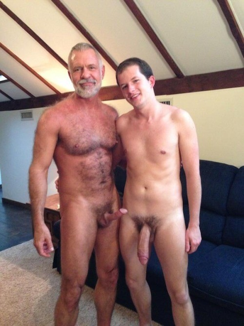 and son naked Dad