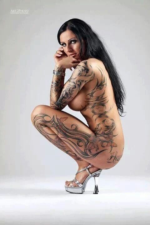 Sexy women with full body tattoos