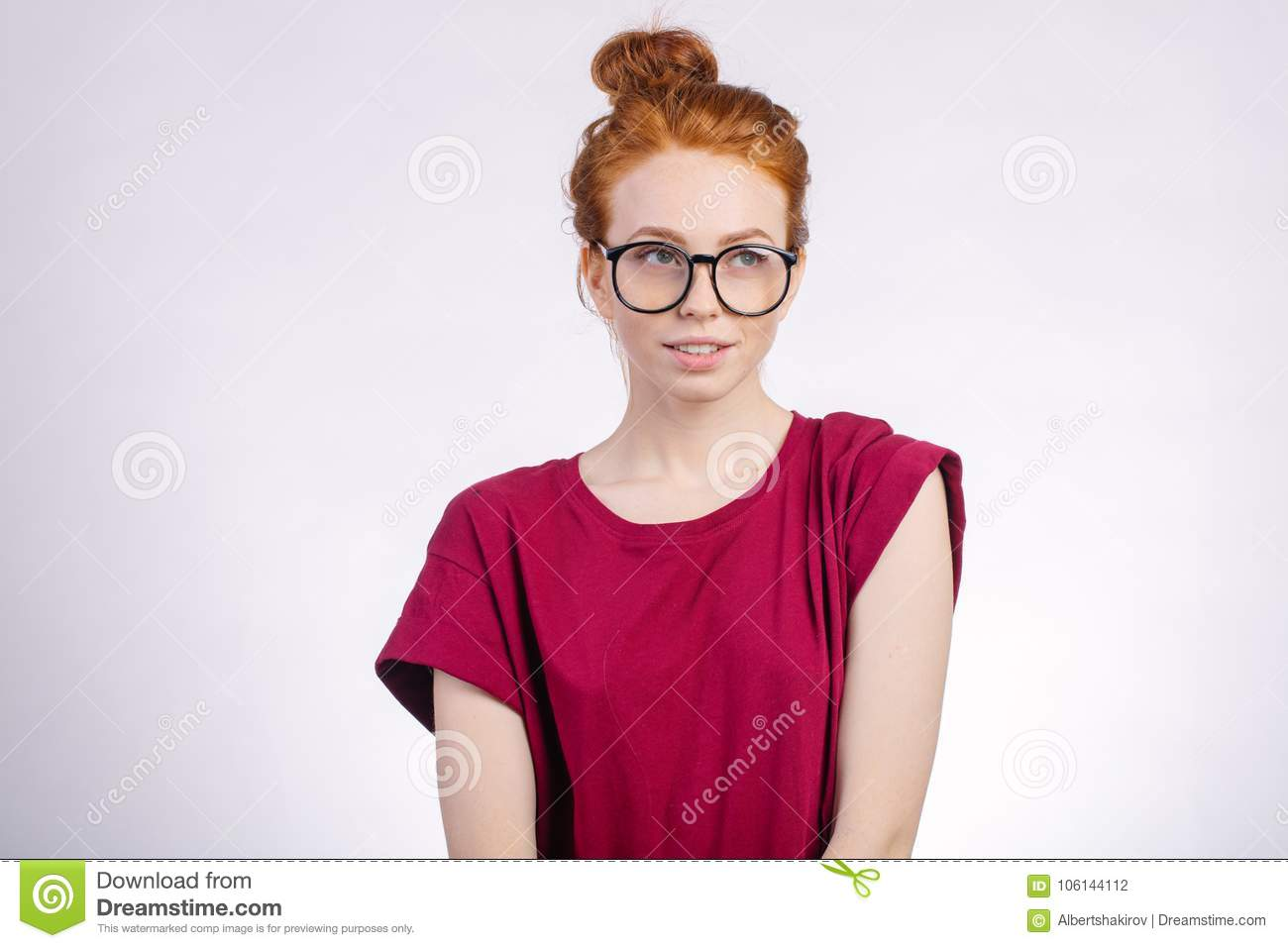 glasses Cute redhead wearing