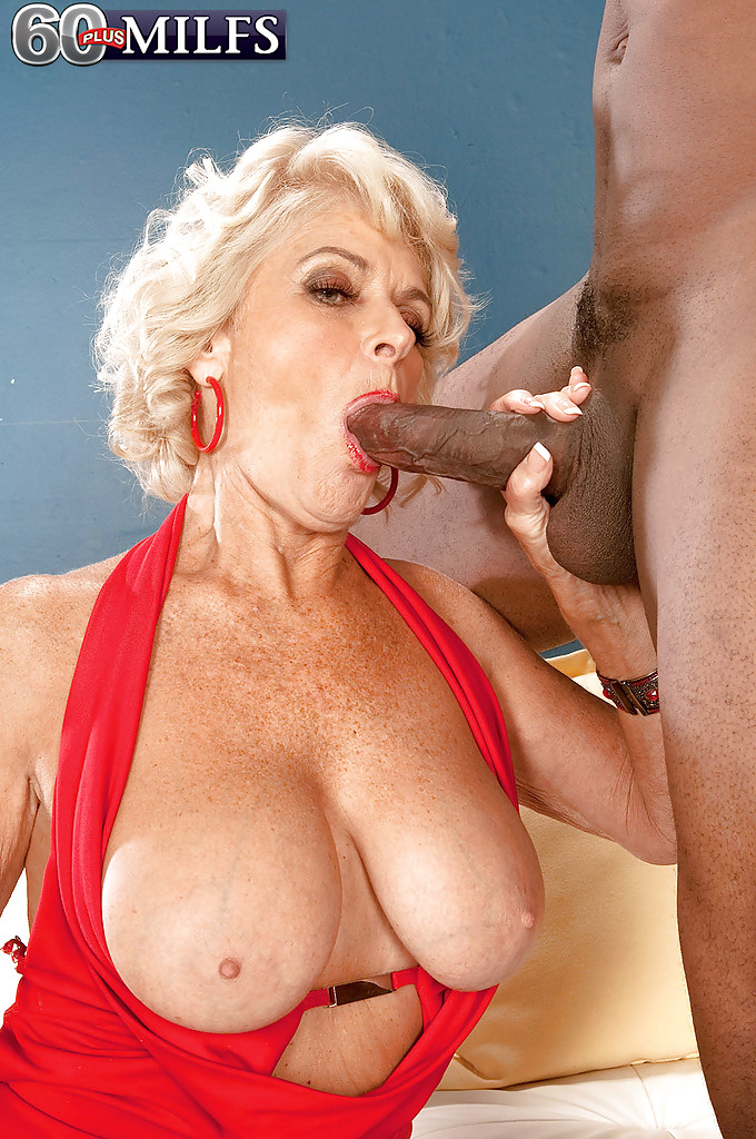 Hot granny fucks a big black cock