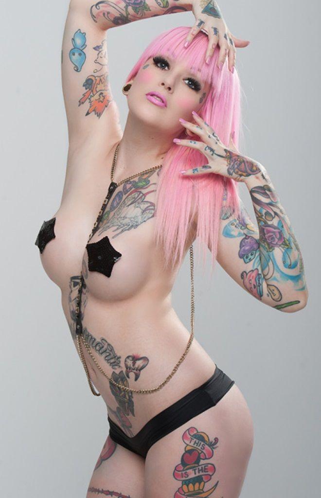 Tattoos on girls boobs