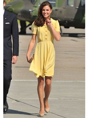 yellow Kate middleton