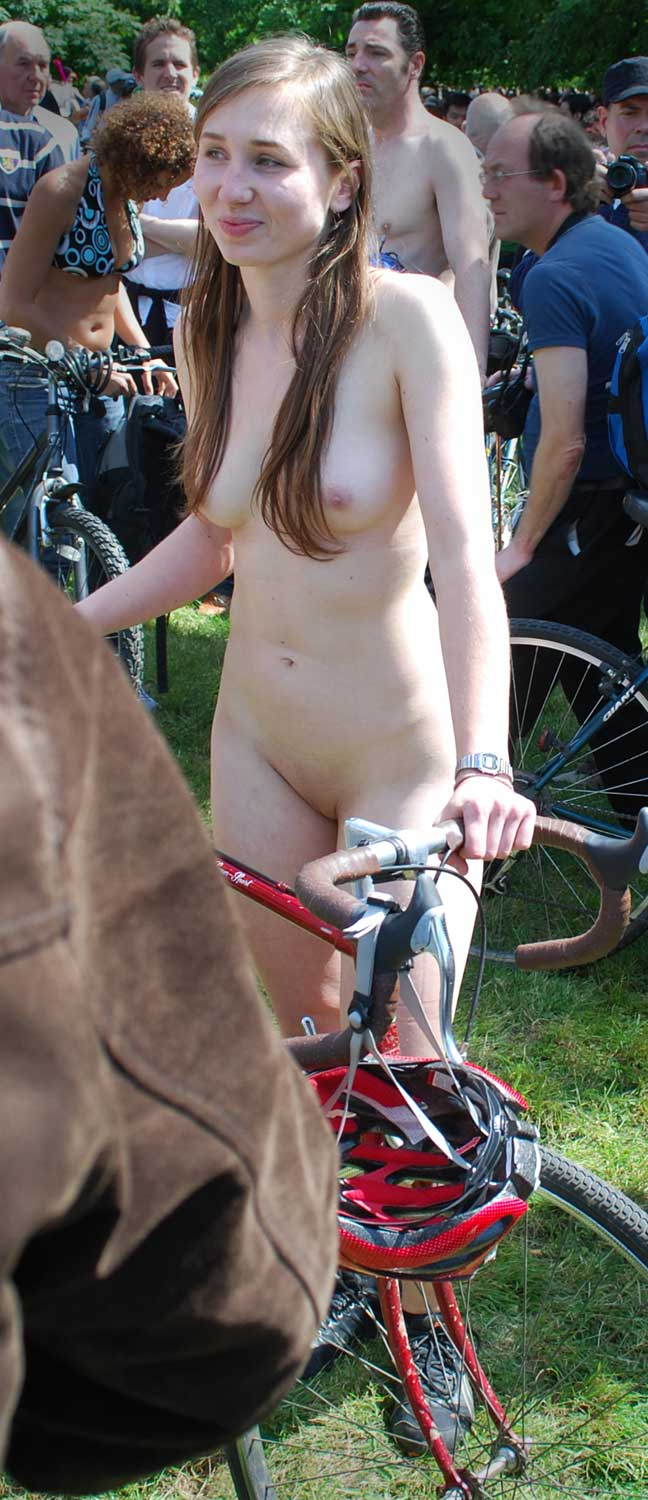 Theme naked bike ride girls congratulate, your