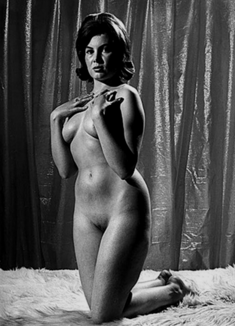 Vintage retro nude shaved pussy