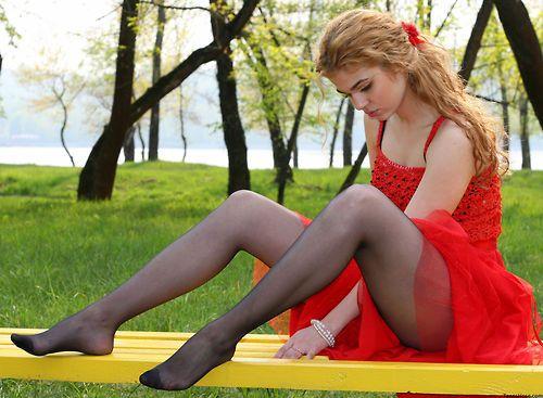 Russian teen stocking feet
