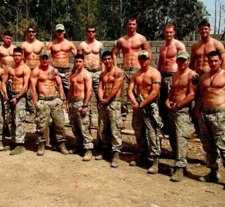 Army military uniform men gay sex