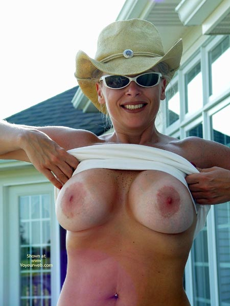 Nude blonde with big nipples