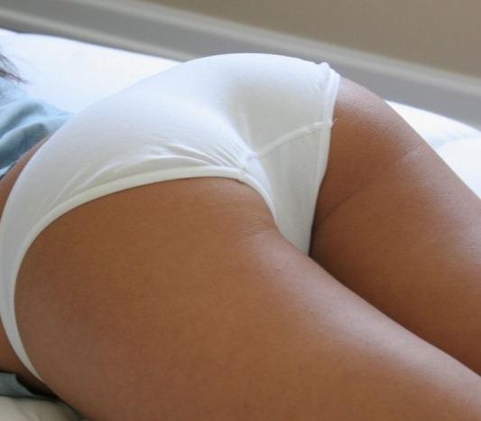 porn Whitecotton panties ass