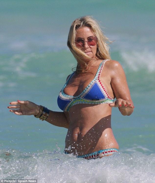 Blonde wife sexy fit bikini body