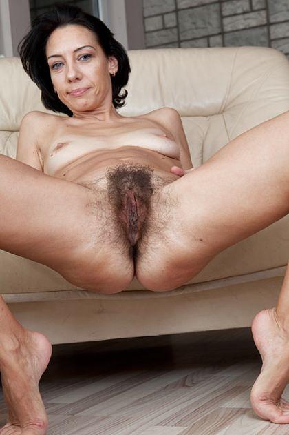 Naked woman spread legs