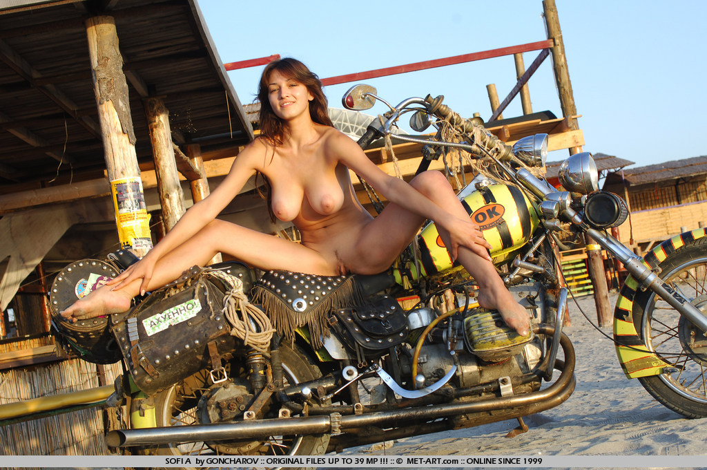 Hot naked girls on motorcycles