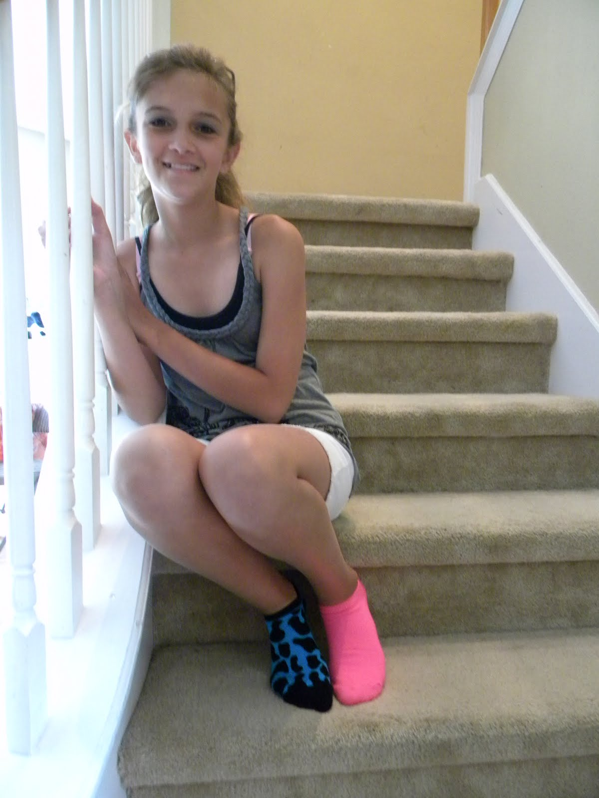 socks wearing teens Cute girls