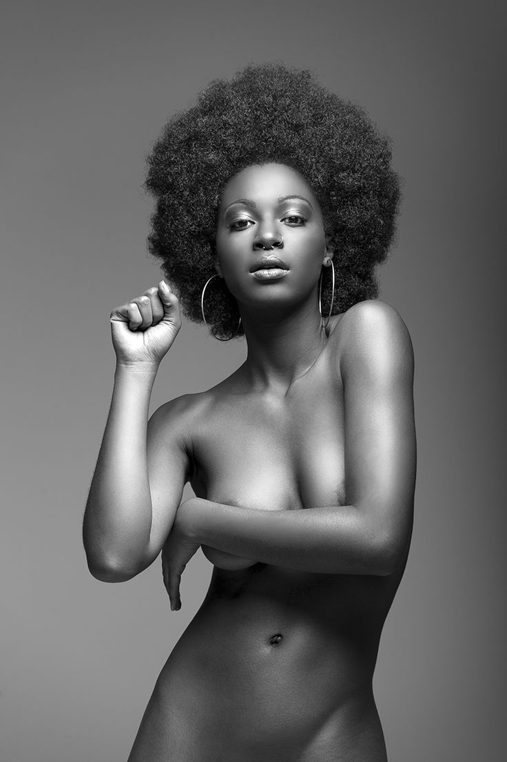 Nude black girls with afros