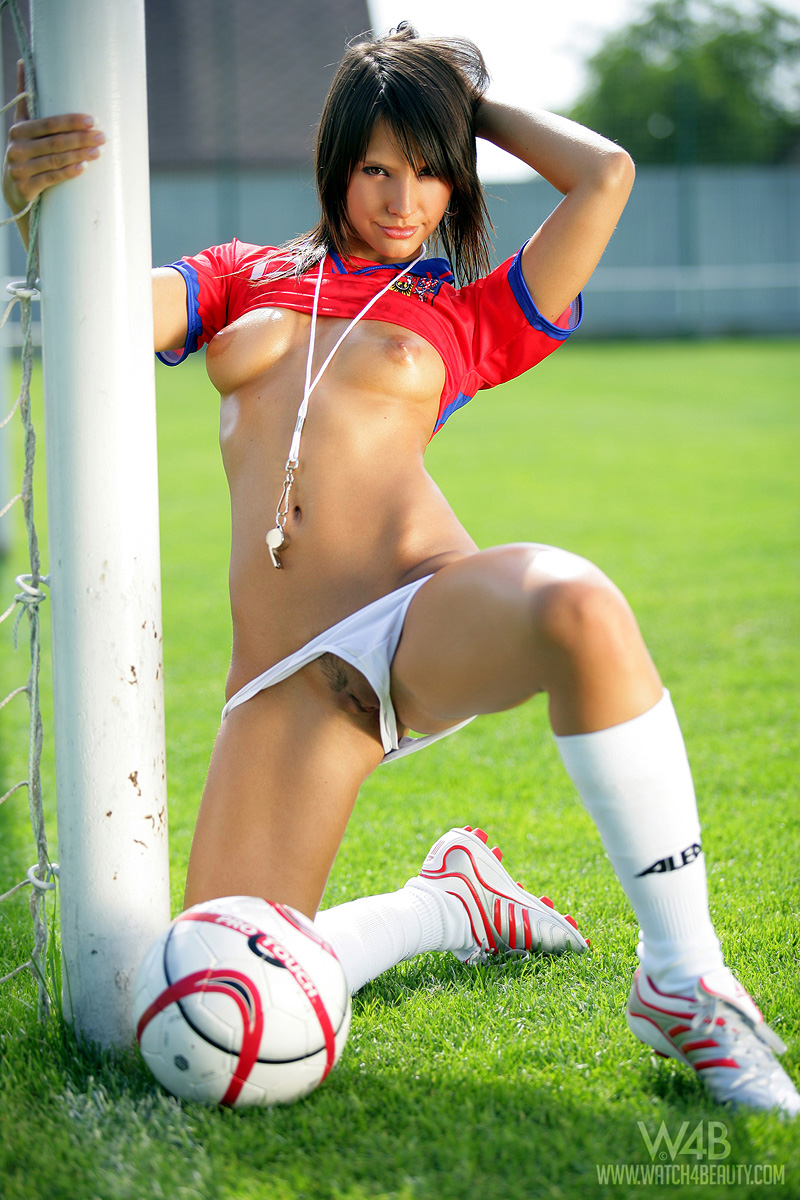 girls playing soccer Nude
