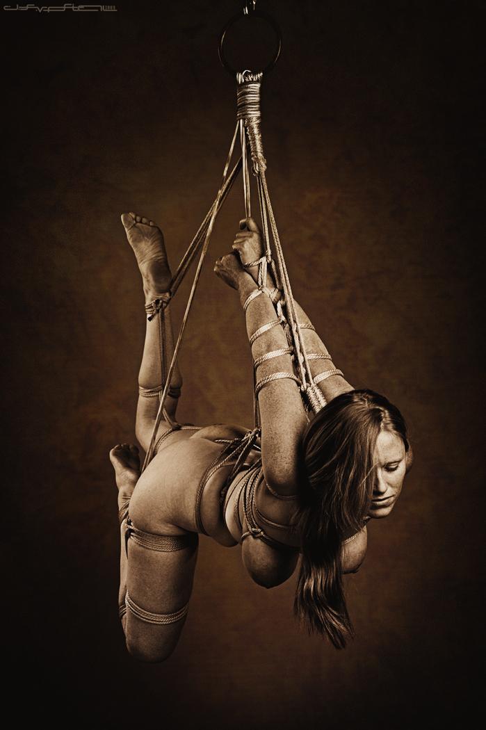 Rope suspension bondage