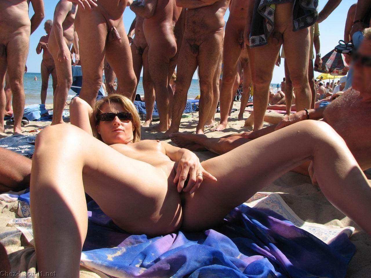 Nudist beach sex public
