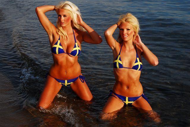 Swedish women bikini
