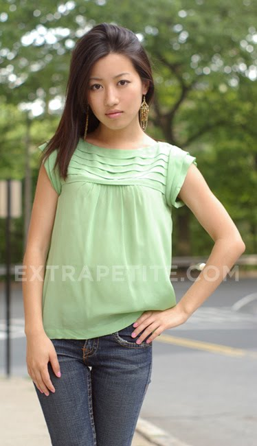 Tiny young asian teen