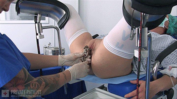 Medical fetish gyno exam