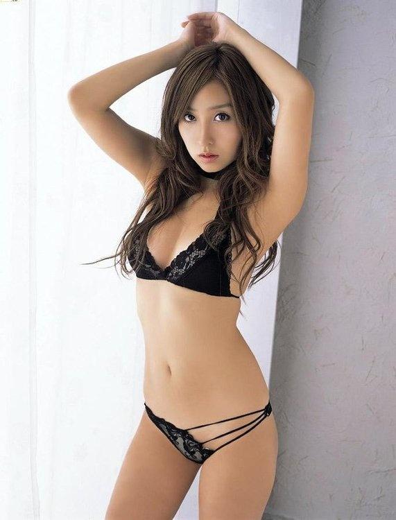 Sexy asian lingerie bride