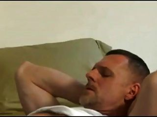 Gay daddy jerking off