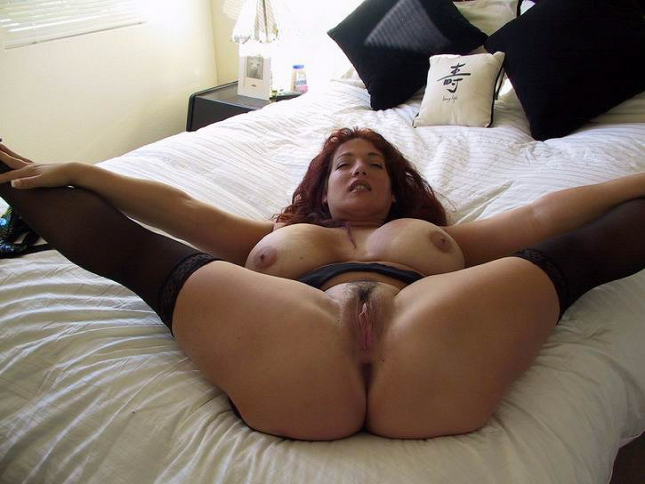 Chubby pussy spread wide
