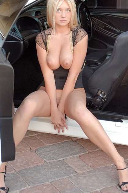 Hot sexy naked girls in cars