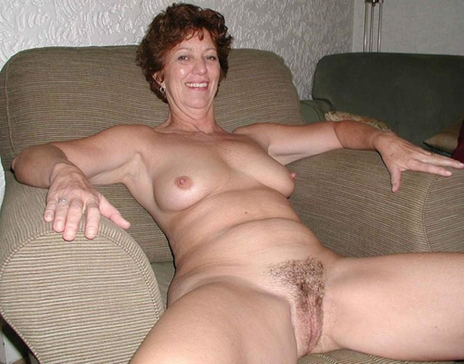 Mature naked hairy old women