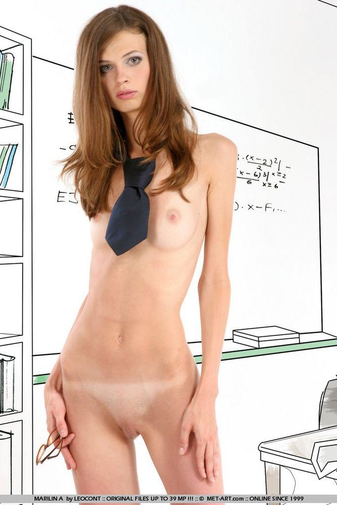 Very skinny nude girls